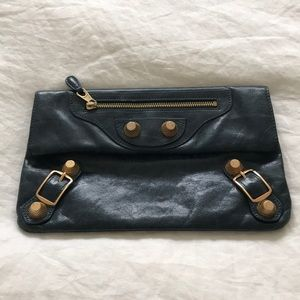 Balenciaga Blue Clutch